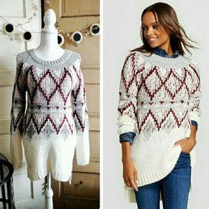 Merona Alpaca Blend Tunic Length Sweater Sz Medium